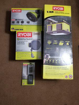RYOBI garage door opener and accessories for Sale in Bel Air, MD