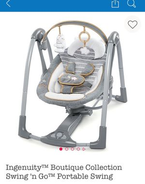 Ingenuity Boutique Collection Swing 'n Go Portable Baby Swing for Sale in Orlando, FL
