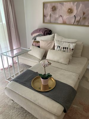 IKEA cream colored sectional couch for Sale in Los Angeles, CA