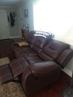 Dual Power Reclining Sofa $550 Today Only for Sale in Salt Lake City,  UT
