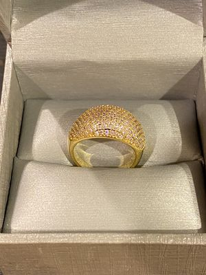 18K Gold plated Engagement Ring- Highly Sparkling- Code E1090 for Sale in Dallas, TX