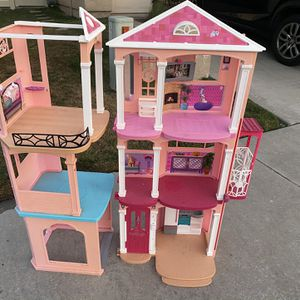 New Mattel Barbie 3 Story Pink Furnished Doll Town house Dreamhouse Townhouse for Sale in Mission Viejo, CA