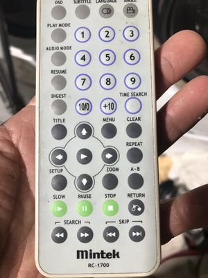 Mintek RC-1700 remote for Sale in Edgewood, WA