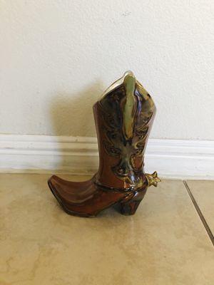 Cowboy boots flower pot 💐🌷🥀🌿🌱 for Sale in Las Vegas, NV