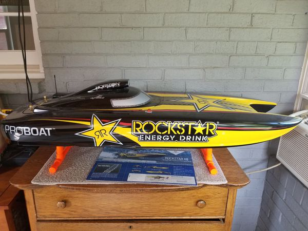 RC gas weed eater engine boat