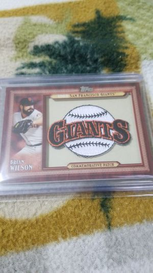 Baseball card- Brian Wilson commemorative patch for Sale in Roseburg, OR