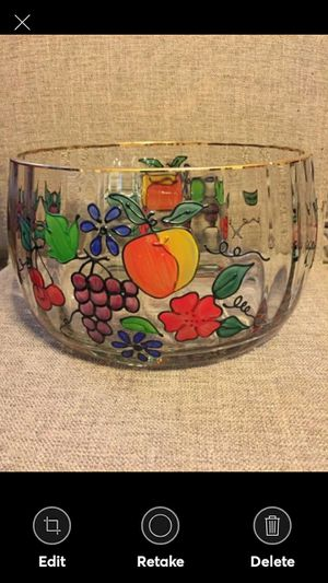 """Large 9"""" Round Clear Crystal Bowl for Sale in Lynchburg, VA"""
