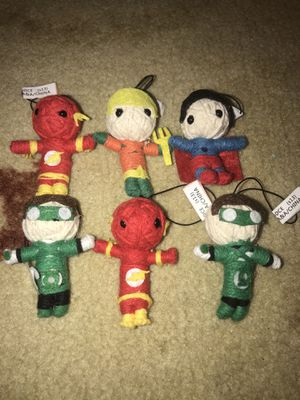 Kids or adults superhero lot of six voodoo dolls or keychains for Sale in Coral Springs, FL