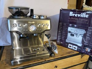 Breville the barista express BES870XL stainless steel espresso machine likenew excellent Open box all accessories included in original packaging for Sale in Las Vegas, NV