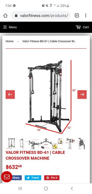 Valor BD-61 Cable Pulley Fitness Equipment for Sale in Largo, FL