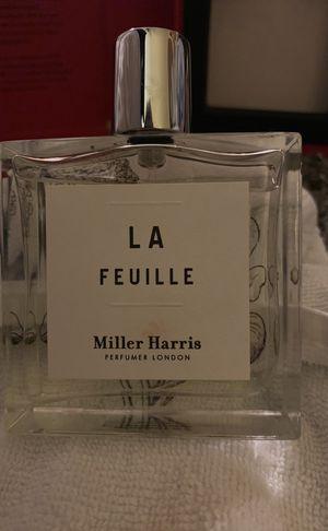 LA FEUILLE Miller Harris Perfumer London Perfumers Library EAU DE PARFUMERIE 100ML 3.4 fl. Oz. for Sale in Boston, MA
