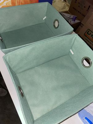 2 cloth baskets bins storage for Sale in Everett, WA