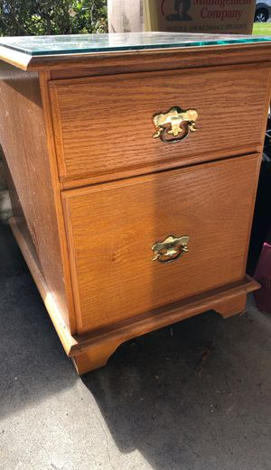 File cabinet/magazine end table for Sale in Walnut Creek, CA