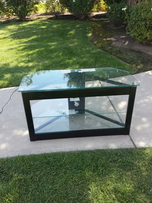 TV Stand Glass and Metal 3 Level TV Stand for Sale in Clovis, CA