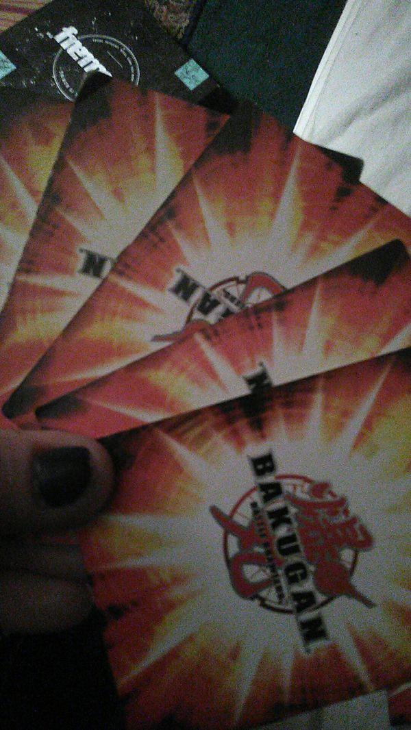 Bakugan cards and 1 bakugan dude