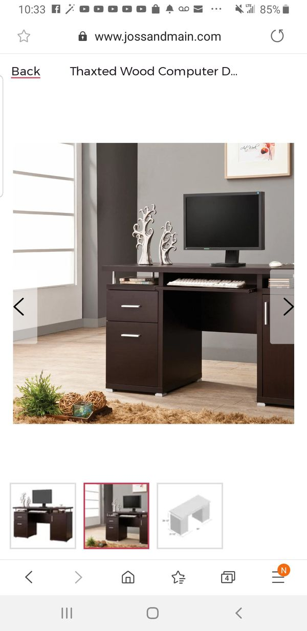 TerrenceCollectionCappuccino-Finish Office Desk