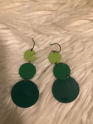 Green earrings for Sale in Annandale, VA