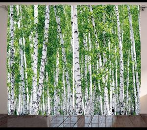Curtains 108 x 63 Forest Birch Trees Living Bed Room Window Nature Home Decor Backdrop for Sale in Orlando, FL