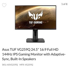 Asus TUF Gaming Monitor 144hz 24.5inch for Sale in Hollywood, FL