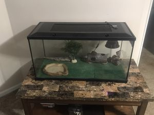 40 Gallon Tank/Terrarium Set Up for Sale in Newport News, VA