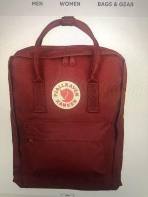 Fjallraven kanken big backpacks (maroon) for Sale in Helmetta, NJ