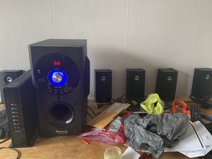 Surround sound super loud massive bass electronic Bluetooth speaker for Sale in Cleveland, OH