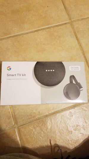 Google smart TV kit (Google home mini & chromecast) for Sale in Houston, TX