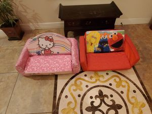 Kids Sofa Sleepers Elmo & Hello Kitty Convert from Sitting to Napping Fast! for Sale in Scottsdale, AZ