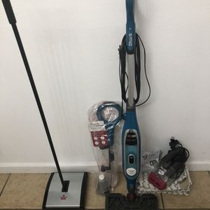 Excellent Condition Cleaning Bundle With Vacuum Steam Mop And Sweeper for Sale in Moreno Valley, CA