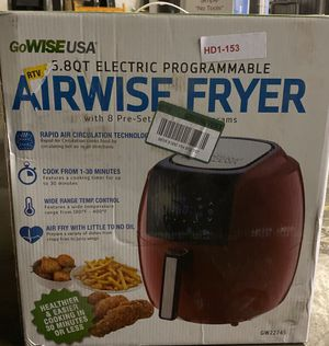 5.8 Qt. 8-in-1 Chili Red Air Fryer with 6-Piece Accessory Set for Sale in Turlock, CA