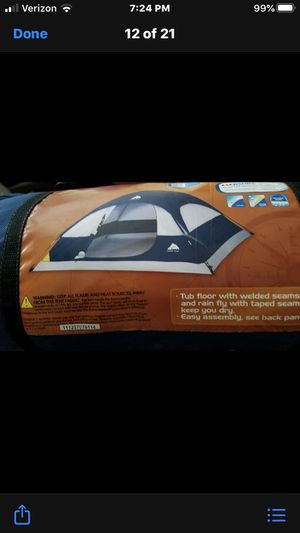 Ozark Trail 2 person Dome Tent, 7x7ft., 42 in. Center height. Never used outside, used for a kids indoor camp out twice. for Sale in Virginia Beach, VA