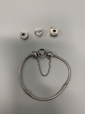 Authentic Pandora Poetic Blooms Bracelet with Charms for Sale in Orlando, FL