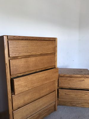 Wood Dresser And Nightstand for Sale in Blacklick, OH