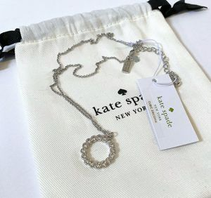Kate Spade - Silver Crystal Circle Necklace - NWT for Sale in Fountain Valley, CA
