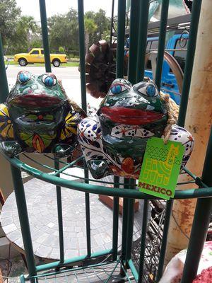 Cute Talavera frog Planters sold individually for Sale in Dunedin, FL
