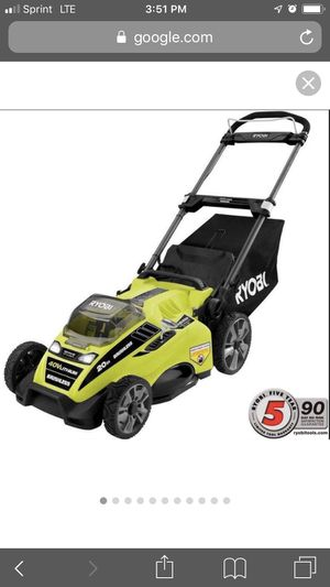 R yobi 20 in. 40-Volt Brushless Lithium-Ion Cordless Battery Walk Behind Push Lawn Mower 5.0 for Sale in Atlanta, GA