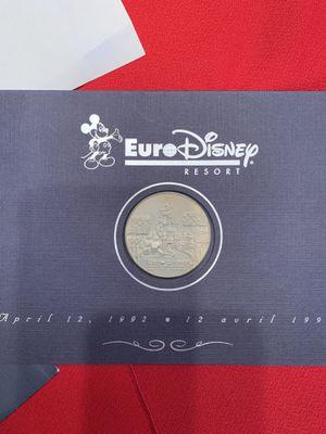 1992 Euro Disney Commemorative Medallion with Cast Member Letter in envelope for Sale in Chandler, AZ