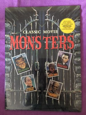 USPS SEALED CLASSIC MOVIE MONSTERS STAMPS FIRST DAY SOUVENIR (1996) for Sale in San Jose, CA