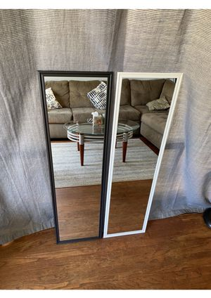 "White/black mirror 49.5"" x 13.5"" Great for rooms & make up. Can deliver San Diego county $5-$10 for Sale in San Diego, CA"