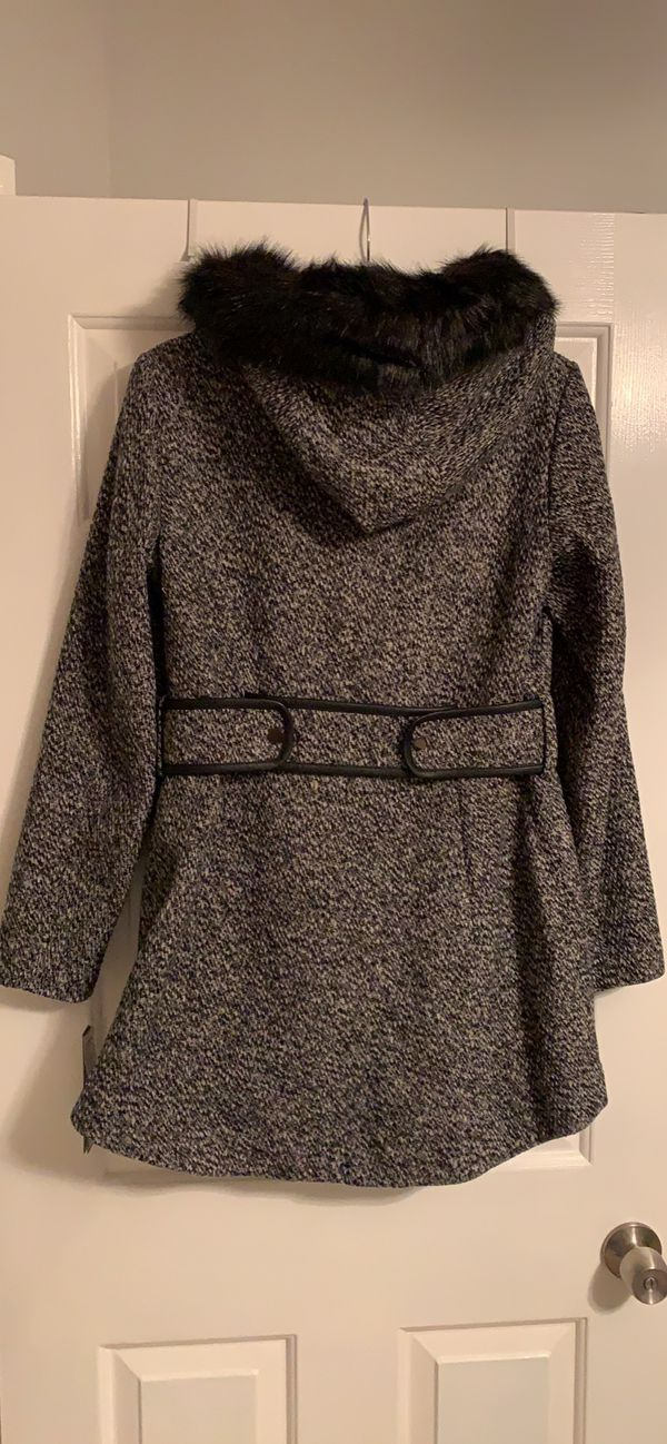 Women's small d.e.t.a.i.l.s Faux-Fur Hooded Walker Jacket—BRAND NEW WITH TAGS. Never been worn