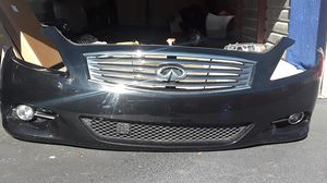 10-13 infinity g37 coupe 14-15 q60 front bumper complete for Sale in Norcross, GA