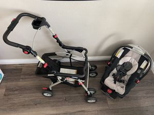 Graco snugrider stroller + Free car seat and base for Sale in Stockton, CA