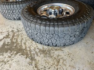 "chevy 16"" stock 8 lug rims and tires for Sale in Woodlake, CA"