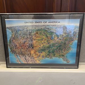 Framed United States Of America Map for Sale in Miami, FL