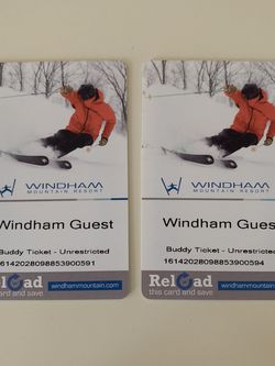 Two Ski Passes At Windham (no Black Out Days) for Sale in Scarsdale,  NY