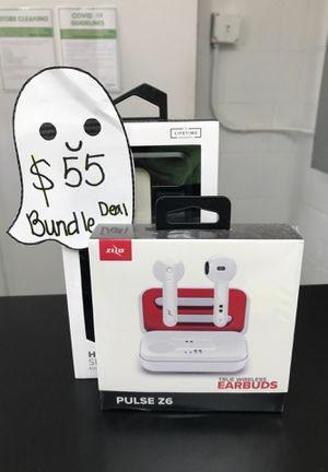 Case & earbuds bundle for Sale in San Antonio, TX