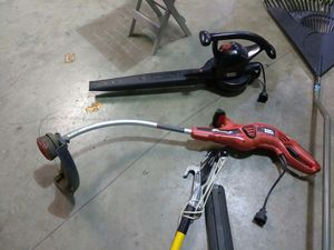 ELECTRIC LEAF BLOWER AND ELECTRIC WEEDEATER READ DETAILS for Sale in University City, MO