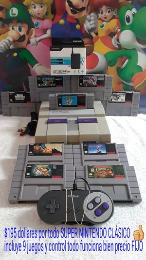 Super Nintendo Clásico original for Sale in Dallas, TX