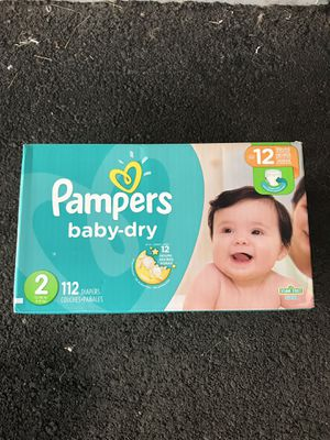 Pampers baby-dry Size 12 Count 112 BRAND NEW BOX for Sale in Garden Grove, CA