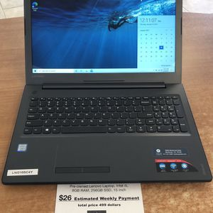Lenovo Laptop, Intel i5, 8GB RAM, 256GB SSD, 15 Inch for Sale in Fort Worth, TX